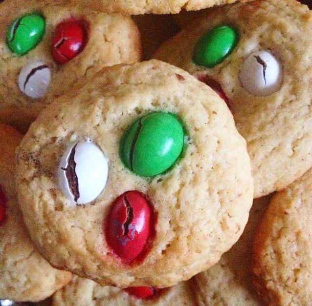 Cookies aux m&m's de Noël