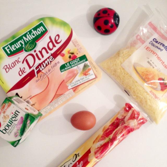 Ingrédients rolls poulet/boursin