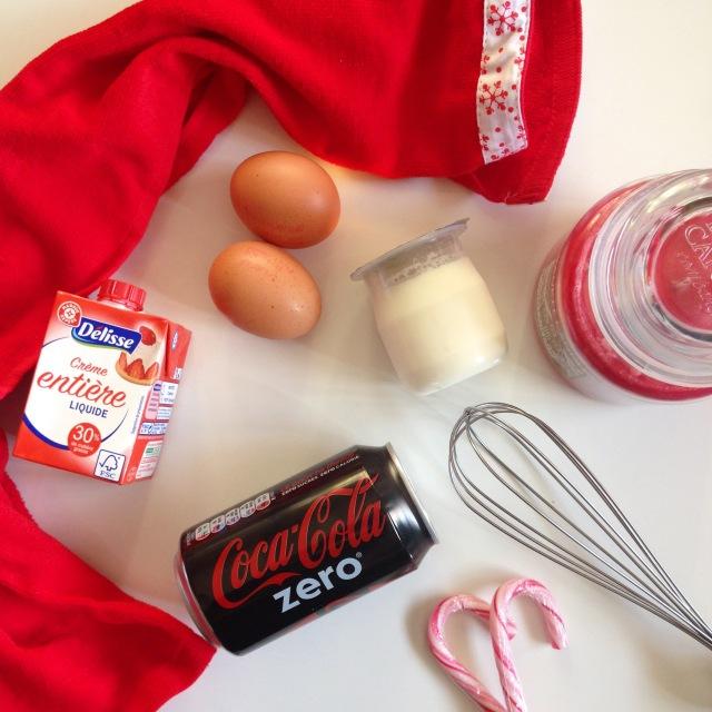 Ingrédients cake Coca zéro