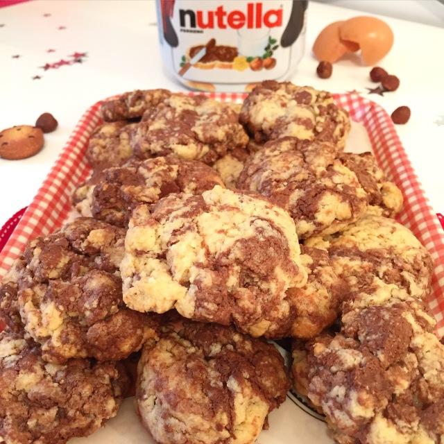 Cookies noisettes et Nutella