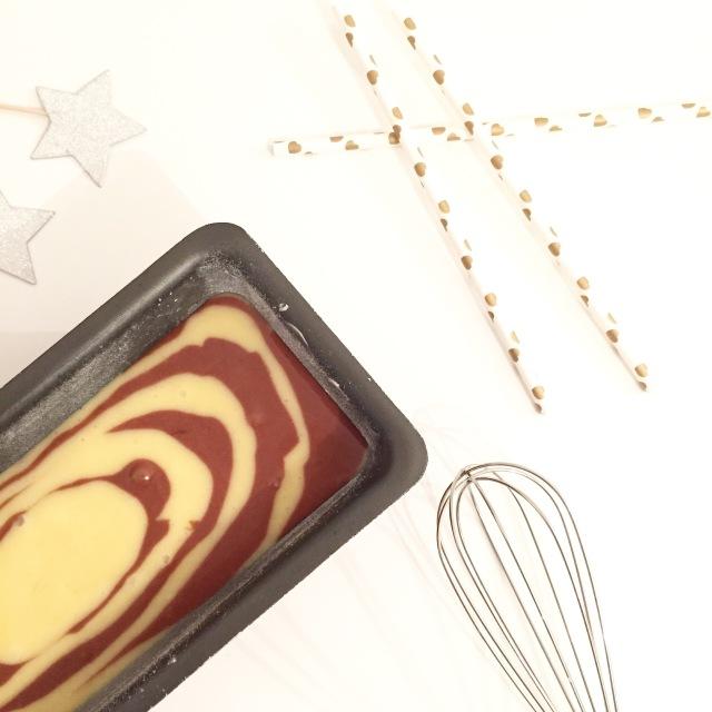 Cake chocolat blanc et chocolat caramel