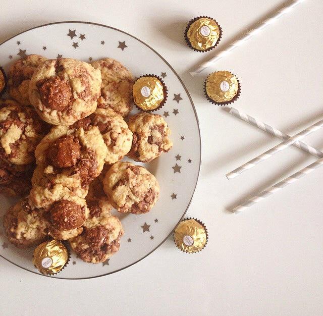 Cookies aux Ferrero rocher