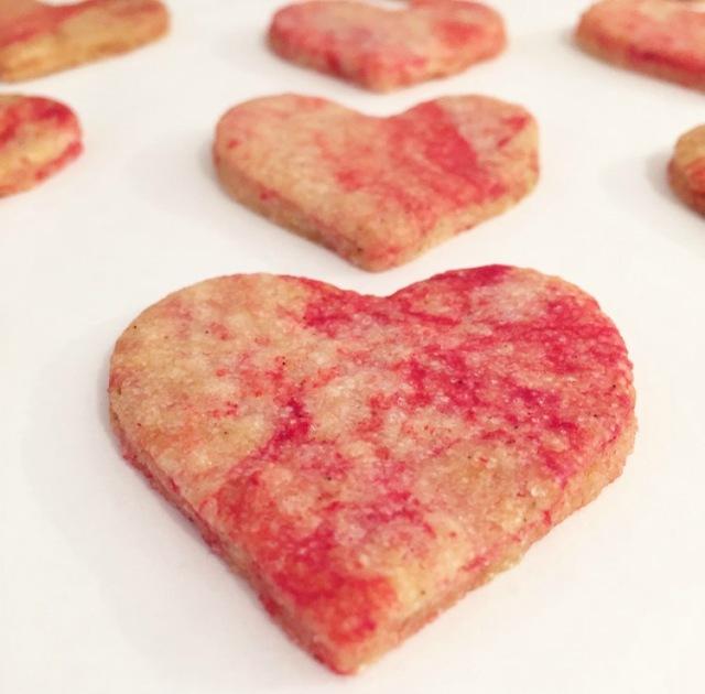 Sablés marbrés fraise et vanille