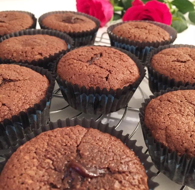 Muffins fondants au chocolat
