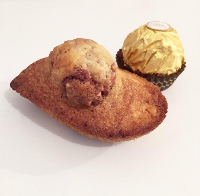 Madeleines aux Ferrero rocher