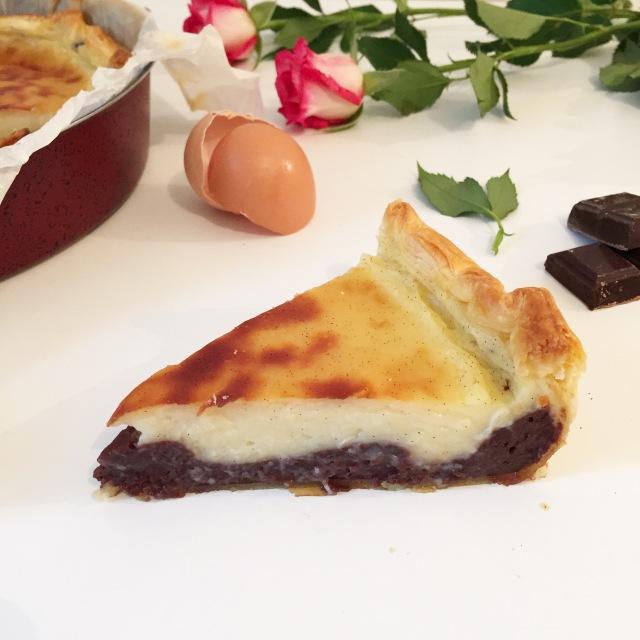 Flan pâtissier bi-goût vanille et chocolat