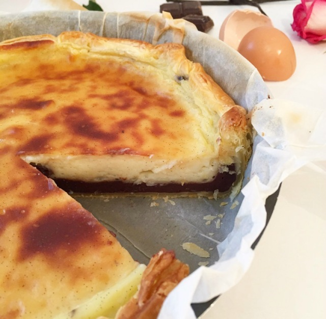 Flan pâtissier bi-gout chocolat et vanille