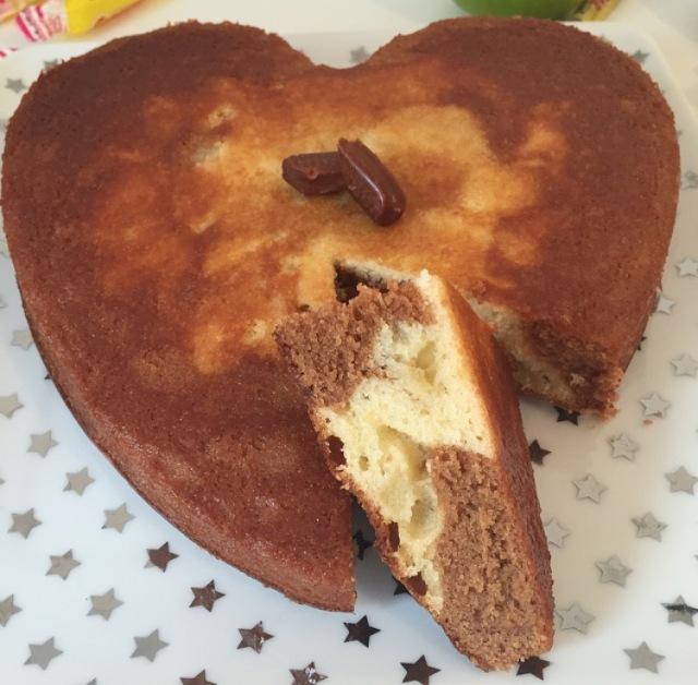 Gâteau marbré pomme et Carambars
