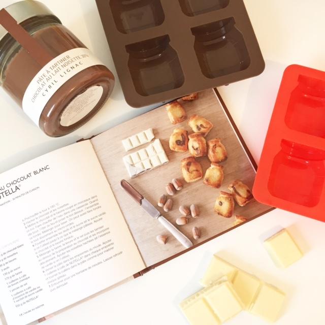 Moelleux au chocolat blanc et à la pâte à tartiner