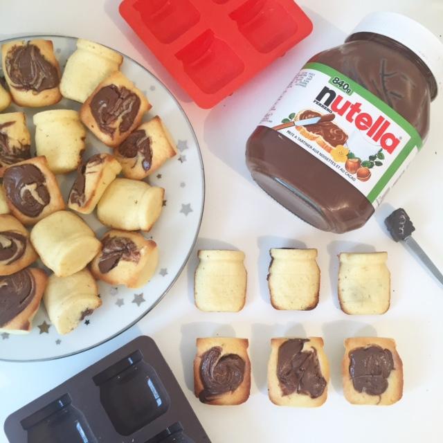 Moelleuc au chocolat blanc et à la pâte à tartiner