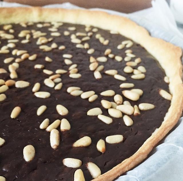 Tarte chocolat aux pignons