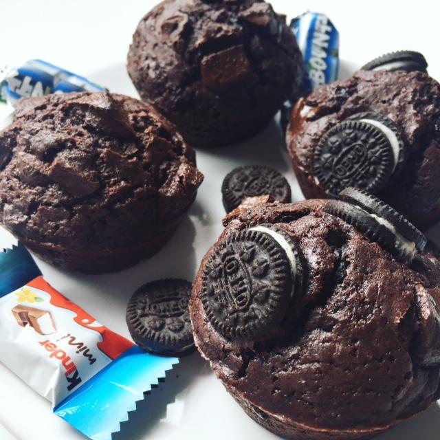Muffins chocolat et Oréos