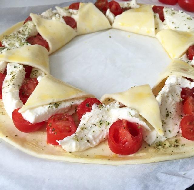 Tarte soleil tomates et mozzarella