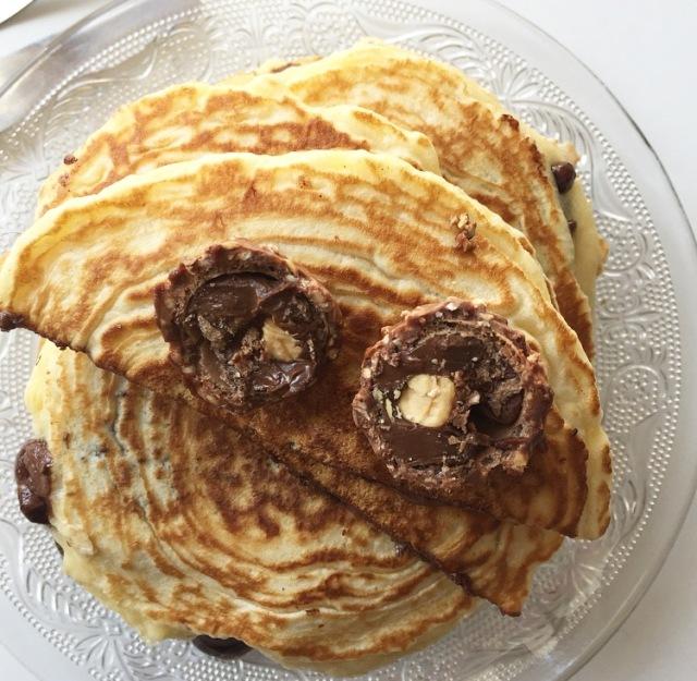 Pancakes fourrés à la pâte à tartiner