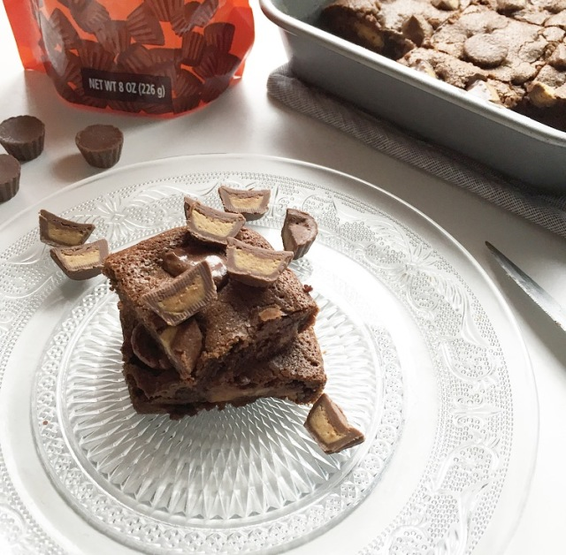 Brownie fondant aux minis Reese's
