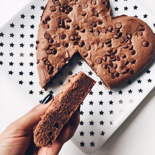 Gâteau au chocolat et pépites de chocolat