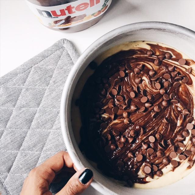 Gâteau au Nutella et pépites de chocolat