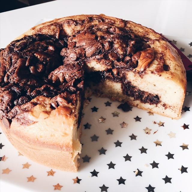 Gâteai au Nutella et pépites de chocolat