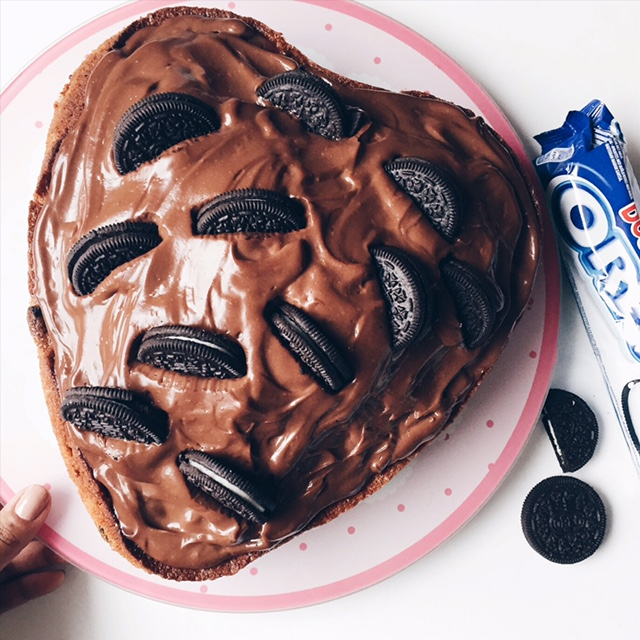 Gâteau aux Oréos et crèmes pâtissières